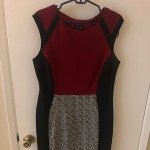 Red and Black work dress